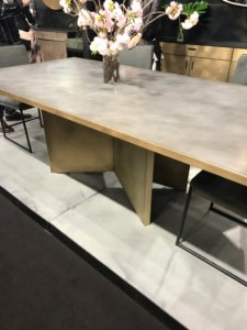 Nicola Manning Design Interior Design Blog Colour Trends 2017 ICFF New York Metal table with brass edging