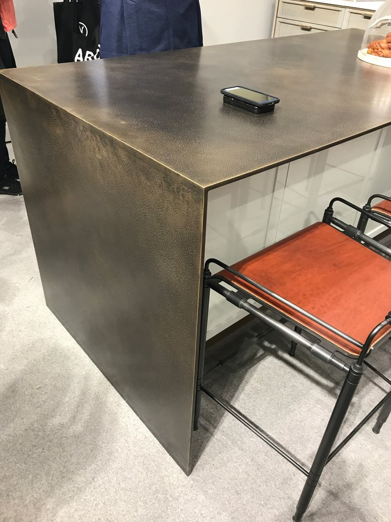 Nicola Manning Design Interior Design Blog Colour Trends 2017 ICFF New York Hammered Metal Benchtop