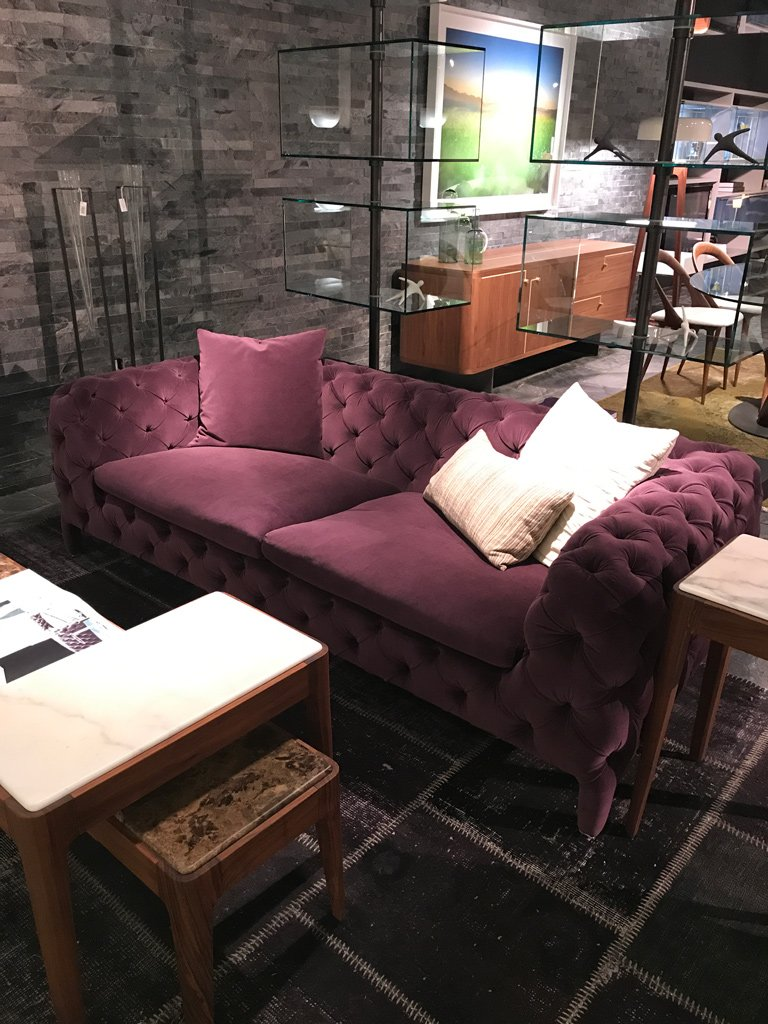 Nicola Manning Design Interior Blog Colour Trends 2017 Icff New York Grape Velvet Oned Sofa