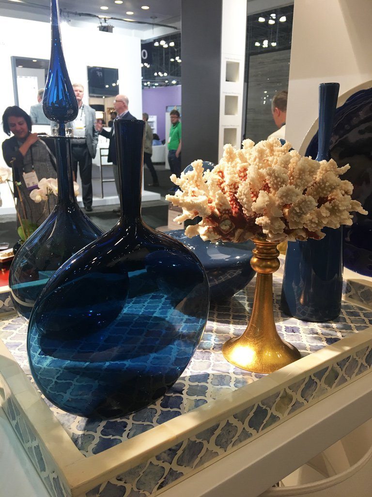 Nicola Manning Design Interior Design Trends Blog ICFF 2017 New York Blue Vases and Coral