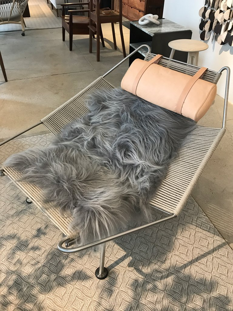 Nicola Manning Design Interior Design Trends Blog ICFF 2017 New York Sheepskin Throw on Chair