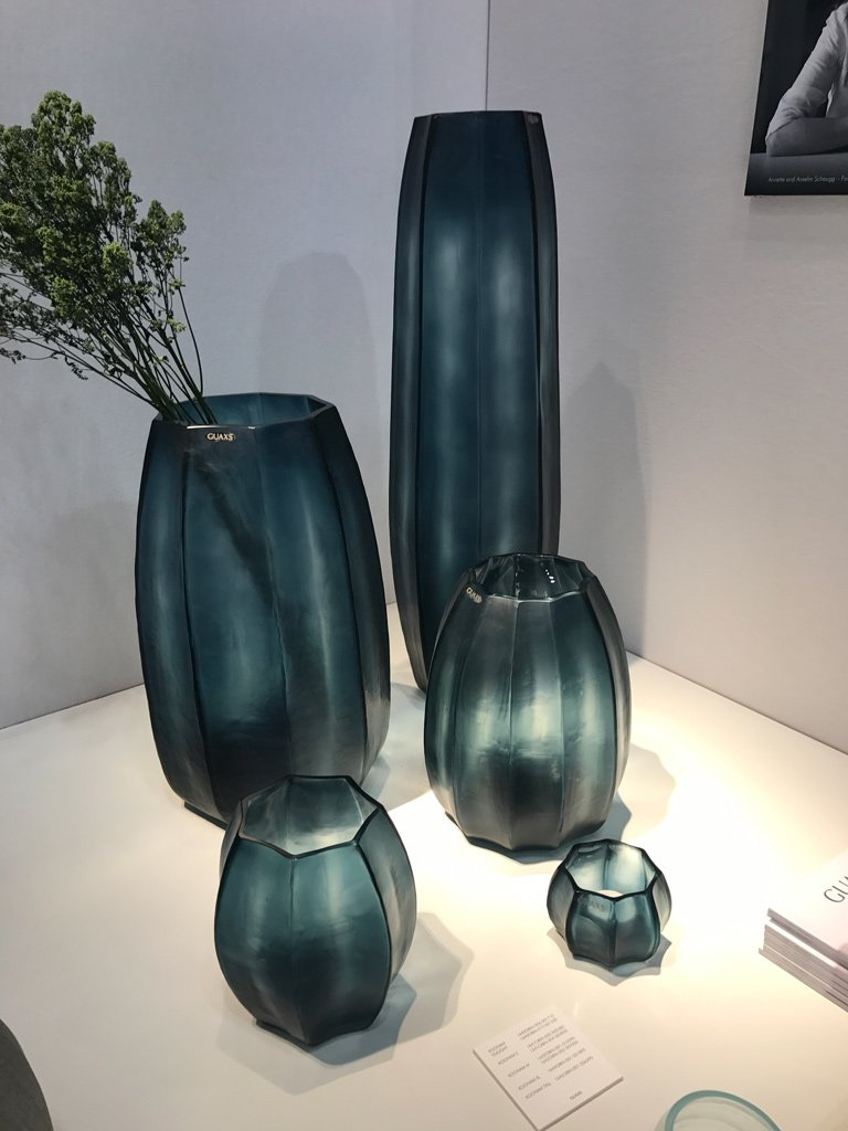 Nicola Manning Design Interior Design Trends Blog Series ICFF 2017 New York Accessories Blue Green Vases