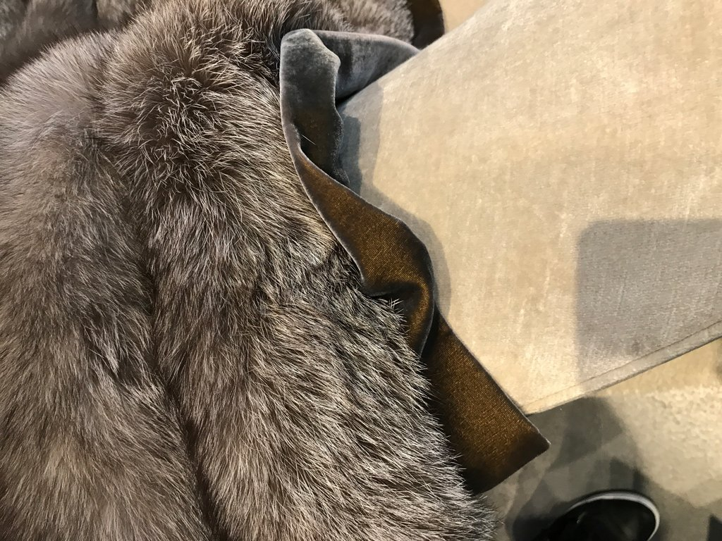 Nicola Manning Design Interior Design Trends Blog Series ICFF 2017 New York Accessories Fur Throw Holly Hunt Showroom
