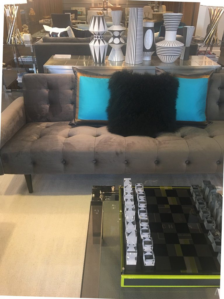 Nicola Manning Design Interior Design Trends Blog Series ICFF 2017 New York Accessories Jonathan Adler Sheepskin Cushion