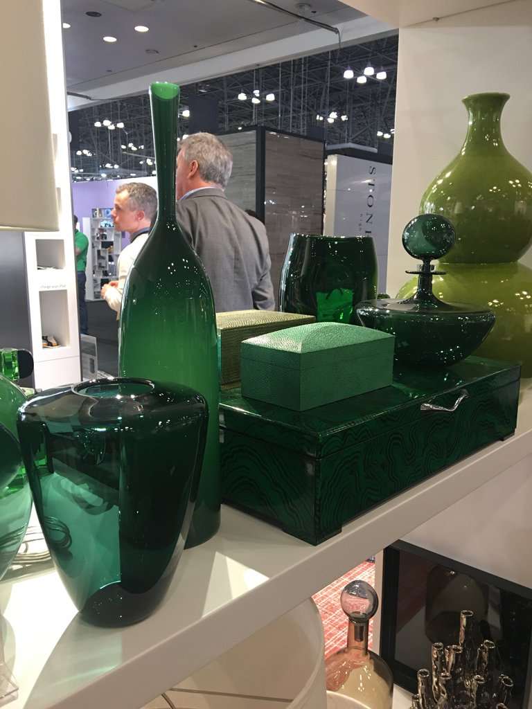 Nicola Manning Design Interior Design Trends Blog Series ICFF 2017 New York Accessories Green Vases
