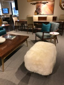 Nicola-Manning-Design-Sheepskin-Pouff-New-York Furniture Trends Blog