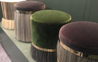 Nicola-Manning-Design-Velvet-Pouffs-NYC ICFF 2017 Furniture Blog