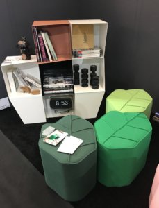 Nicola-Manning-Design-Wool-Pouffs-ICFF-2017-New-York Leaf Shaped Pouffs Furniture Trends Blog
