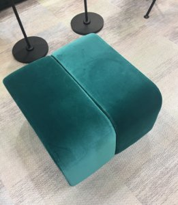 Nicola-Manning-Velvet-Pouff-ICFF-2017-New-York Furniture Trends Blog