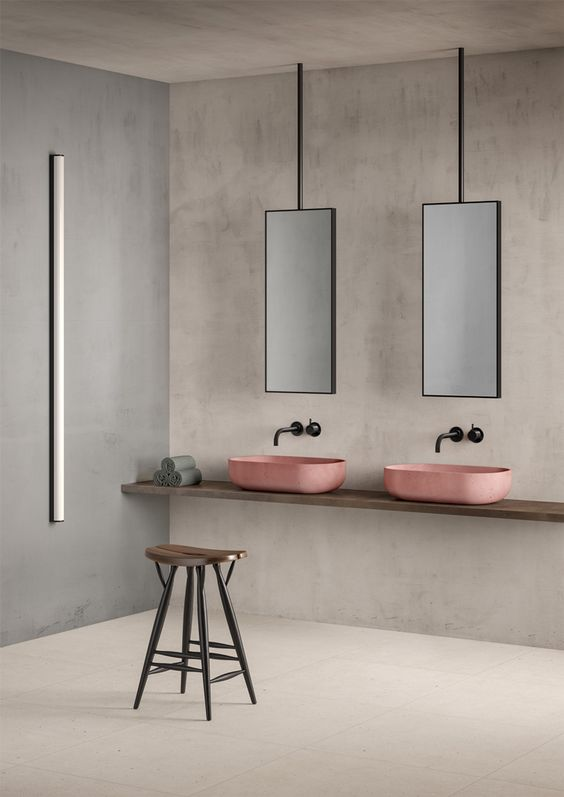 Nicola Manning Design Blog Pink bathroom vessel basins