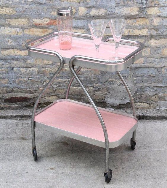 Nicola Manning Design Blog Pink Drinks Trolley