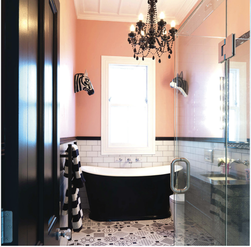 Nicola Manning Design Blog Pink painted bathroom wall