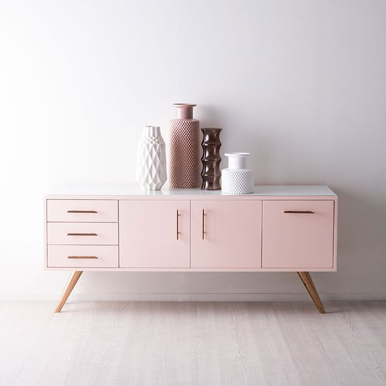 Nicola Manning Design Pink Sideboard Pink Furniture