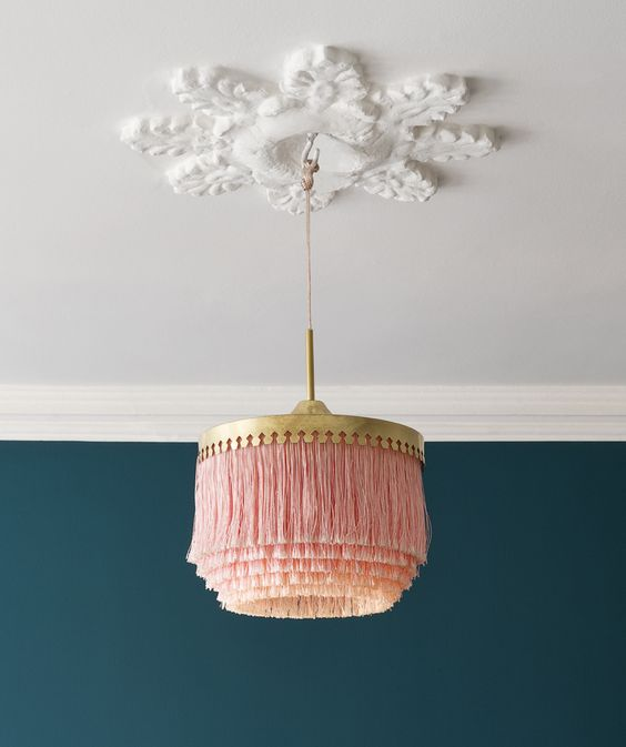 Nicola Manning Design Blog Pink pendant light with tassels